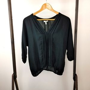 JOIE | 100% Silk Ladies Black Small Blouse